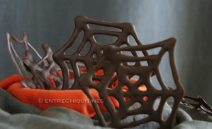tela araña chocolate halloween